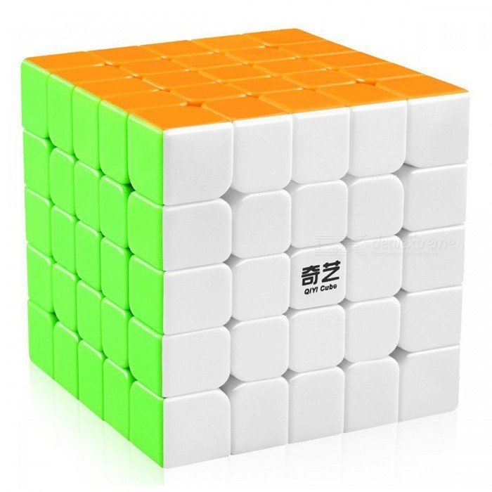 QiYi QiZheng Speed Cube 5x5 Smooth Magic Cube Puzzles Toy - 62mm