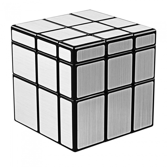 QiYi Mirror Blocks Speed Cube Smooth Magic Cube Puzzles Toy - 57mmMagic IQ Cubes<br>Form  ColorBlack+SilverModelN/AMaterialABSQuantity1 DX.PCM.Model.AttributeModel.UnitType3x3x3,OthersSuitable Age 3-4 years,5-7 years,8-11 years,12-15 years,Grown upsPacking List1 x Magic Cube<br>