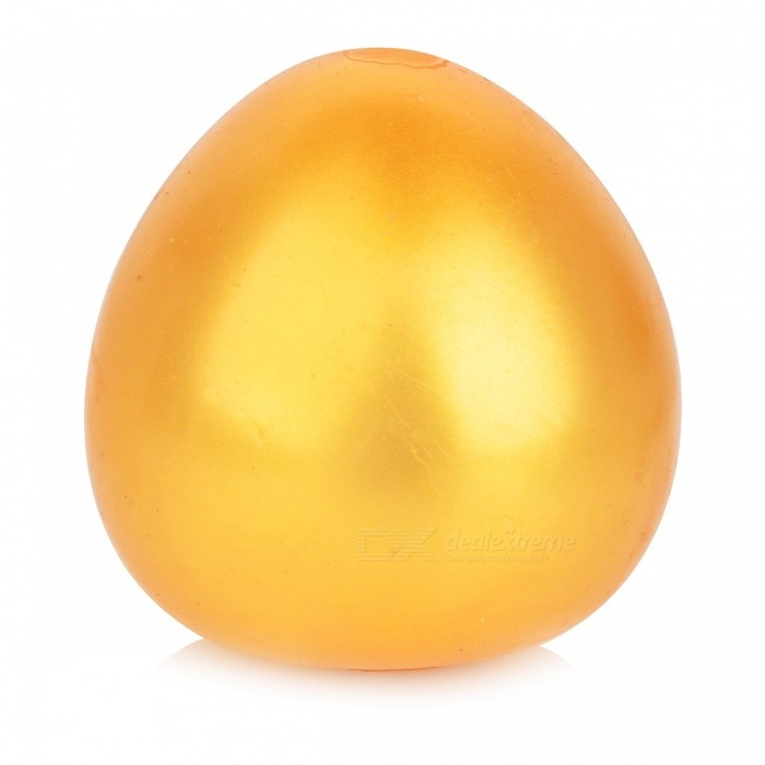 Funny Egg Style Stress Relief Reliever Squeezed Toy - GoldenStress Relievers<br>Form  ColorGoldenMaterialTPRQuantity1 DX.PCM.Model.AttributeModel.UnitSuitable Age 5-7 years,8-11 years,12-15 years,Grown upsPacking List1 x Toy<br>