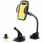 3-in-1 Car Holder Cradle Universal Air Vent Dashboard Windshield Mount for IPHONE Android Mobile Phones - Yellow