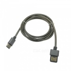 Cwxuan Stainless Steel Spring USB 3.1 Type-C Charging Data Cable - Black