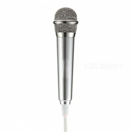 RMK-K01 Mini High Sensitivity Microphone with 3.5mm Audio Cable for Cell Phone, PC