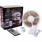 BRG 5m IP65 Waterproof RGB SMD5050 Light Strip Kit with 44-Key IR ContrAC200V-240Voller, EU Plug Power Supply - White