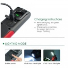 P-TOP  LED Magnetic Flashlight Stand Work Light Camping Lamp Portable USB Rechargeable Energy Saving Torch - Black