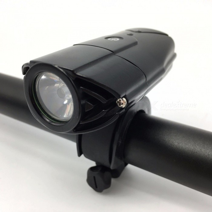 P-TOP Bicycle Front Light Touch Switch Headlight USB Rechargeable LED Waterproof Flashlight - BlackBike Lights<br>Form  ColorBlackModel-Quantity1 DX.PCM.Model.AttributeModel.UnitMaterialHigh hardness aviation aluminum alloyEmitter BrandCreeLED TypeXM-LEmitter BINothers,L2Number of Emitters1Color BINCold WhiteWorking Voltage   5 DX.PCM.Model.AttributeModel.UnitPower SupplyLithium BatteryCurrent500 DX.PCM.Model.AttributeModel.UnitActual Lumens320 DX.PCM.Model.AttributeModel.UnitRuntime2.5-3 DX.PCM.Model.AttributeModel.UnitNumber of Modes3Mode ArrangementHi,Mid,SOSMode MemoryNoSwitch TypeTwistyLensPlasticReflectorAluminum SmoothFlashlight MountingHandlebar,Handlebar and HelmetSwitch LocationHeadBeam Range50-100 DX.PCM.Model.AttributeModel.UnitPacking List1 x Bike Light1 x USB Charging Cable1 x Hand Sling1 x Bracket1 x Fixed Mount1 x Bandage1 x User Guide<br>