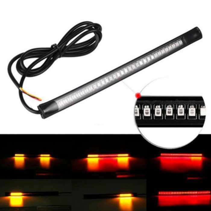 Universal Flexible Motorcycle SMD 48-LED Strip Light Car Tail Turn Signal Brake Light