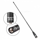 DH-771 Color Series High Gain UV Dual Band Antenna with SMA Female Connector for Walkie Talkie - Black