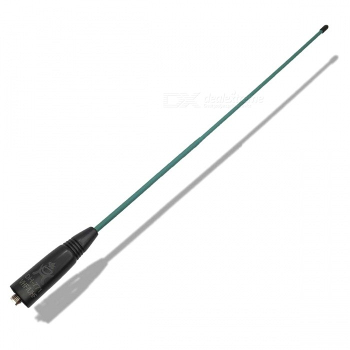 DH-771 Color Series High Gain UV Dual Band Antenna with SMA Female Connector for Walkie Talkie - Green + BlackWalkie Talkies Supplies<br>Form  ColorBlack + GreenModelDH-771Quantity1 DX.PCM.Model.AttributeModel.UnitMaterialPVCCompatible BrandUniversal SMA Female ConnectorCompatible ModelUniversal SMA Female ConnectorPacking List1 x Antenna<br>