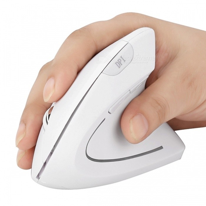 MODAO 6 Buttons 3 Levels Adjustable DPI Ergonomic Vertical Bluetooth Wireless Mouse - WhiteWireless Mouse<br>Form  ColorWhiteModelE42Quantity1 DX.PCM.Model.AttributeModel.UnitMaterialABSShade Of ColorWhiteInterfaceOthers,BluetoothWireless or WiredBluetoothOptical TypeLEDResolution800-1200-1600Button life8 millionBluetooth VersionBluetooth V2.0Operating Range10 DX.PCM.Model.AttributeModel.UnitPowered ByAAA BatteryBattery included or notNoBattery Number2Supports SystemWin xp,Win 2000,Win 2008,Win vista,Win7 32,Win7 64,Win8 32,Win8 64,MAC OS X,IOS,Linux,Android 2.x,Android 4.xTypeErgonomicPacking List1 x Bluetooth Wireless Mouse1 x User Guide<br>