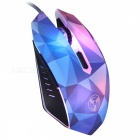 W39 Dazzle Color Diamond Edition 3200DPI USB Wired Gaming Mouse with 7-Color Breathing LED Light