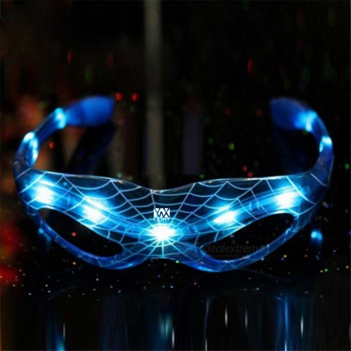 YWXLight LED Spiderman Luminous Glasses for Halloween Party