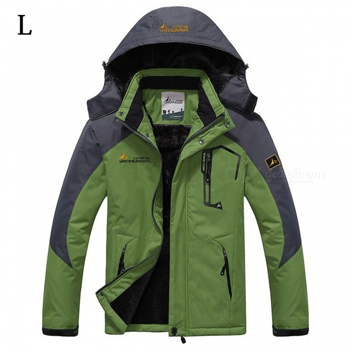 Winter Windproof Mens Warm Hooded Outwear Jacket Parkas - Green(L)Jackets and Coats<br>Form  ColorGreenSizeLModelMY229Quantity1 DX.PCM.Model.AttributeModel.UnitShade Of ColorGreenMaterialPolyester,CottonStyleCasualTop FlyZipperShoulder Width48 DX.PCM.Model.AttributeModel.UnitChest Girth114 DX.PCM.Model.AttributeModel.UnitSleeve Length64 DX.PCM.Model.AttributeModel.UnitTotal Length70.5 DX.PCM.Model.AttributeModel.UnitSuitable for Height165-170 DX.PCM.Model.AttributeModel.UnitPacking List1 x Jacket<br>