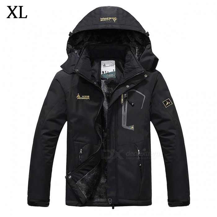 Winter Windproof Mens Warm Hooded Outwear Jacket Parkas - Black (XL)Jackets and Coats<br>Form  ColorBlackSizeXLModelMY229Quantity1 DX.PCM.Model.AttributeModel.UnitShade Of ColorBlackMaterialPolyester,CottonStyleCasualTop FlyZipperShoulder Width50 DX.PCM.Model.AttributeModel.UnitChest Girth118 DX.PCM.Model.AttributeModel.UnitSleeve Length65.5 DX.PCM.Model.AttributeModel.UnitTotal Length72 DX.PCM.Model.AttributeModel.UnitSuitable for Height170-175 DX.PCM.Model.AttributeModel.UnitPacking List1 x Jacket<br>