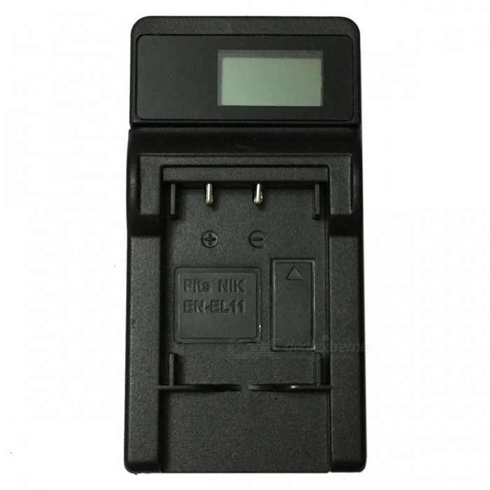 Ismartdigi EL11 LCD USB Camera Battery Charger for Nikon EN-EL11 EL11 - BlackChargers<br>Form  ColorBlackPower AdapterUSBModelEL11 LCD U CMaterialPlastic shellQuantity1 DX.PCM.Model.AttributeModel.UnitShade Of ColorBlackCompatible BrandNikonCompatible ModelsEN-EL11 EL11Compatible Battery ModelEN-EL11 EL11Output Current0.6 DX.PCM.Model.AttributeModel.UnitInput VoltageOthers,5 DX.PCM.Model.AttributeModel.UnitOutput VoltageOthers,4.2 DX.PCM.Model.AttributeModel.UnitOther FeaturesMicro USB Mobile Charger (DC charging and mobile power supply)Packing List1 x Charger 1 x Micro USB Cable (Length: 30cm)<br>