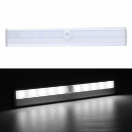 P-TOP-6000-6500K10-LED-IR-Infrared-Motion-Detector-Wireless-Sensor-Closet-Cabinet-Light-Lamp-Silver