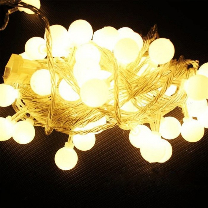 P-TOP 5m 50-LED Warm White Battery Operated Cherry Balls Fairy String Decorative Light for Wedding Christmas Light