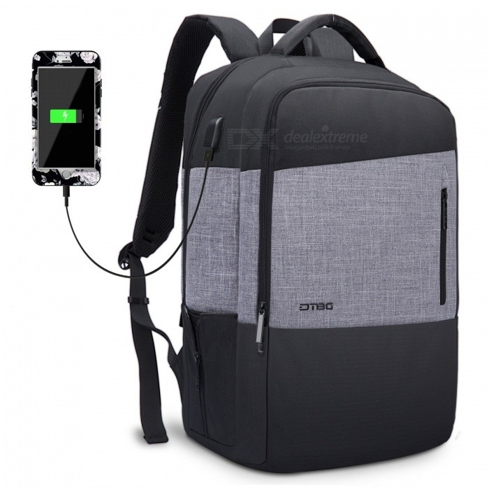 DTBG-173-Inch-Water-Resistant-Laptop-Backpack-with-USB-Charging-Port-Black