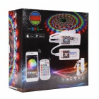 Kit de luz de tira BRG Premium 5m Waterprrof Smart Home Bluetooth RGB LED - Blanco