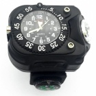 Portable Waterproof Silicone Strap Watch Type LED Flashlight - Black (US Plug)