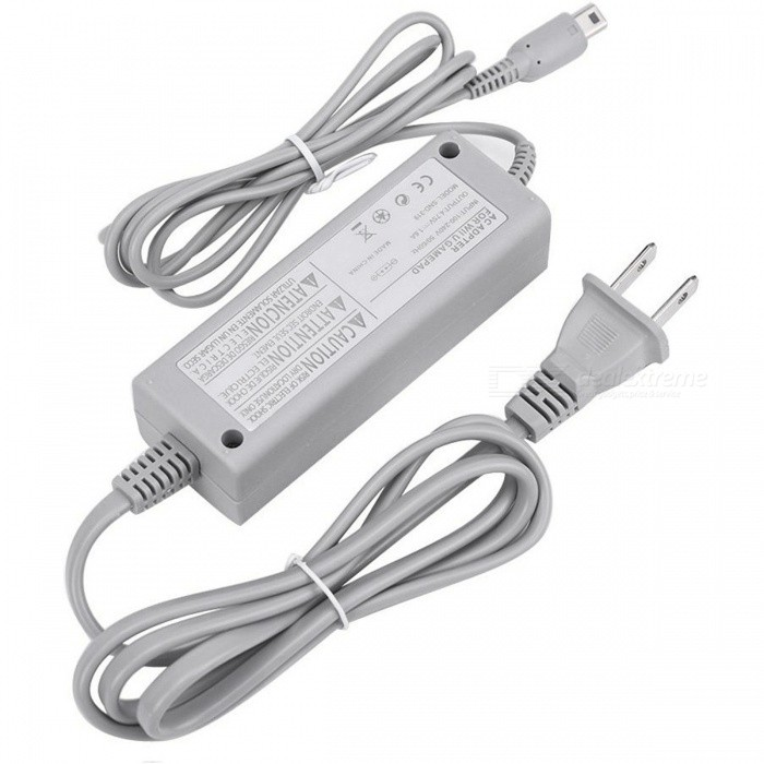 Kitbon Wall AC Power Supply Adapter Charger w/ Cable for Nintendo Wii U Gamepad Remote Controller