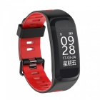 "F4 0.96"" OLED Smart Fitness Bracelet with Blood Pressure Oxygen, Heart Rate Monitor - Red"