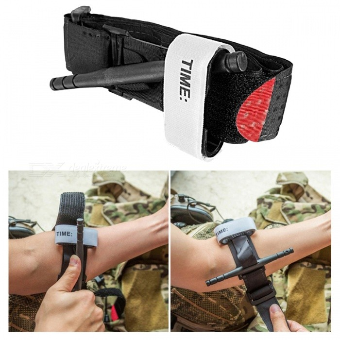 Durable Tactical One-handed Tourniquet, Medical Compression Stanch Belt - BlackFirst Aid<br>Form  ColorBlackQuantity1 DX.PCM.Model.AttributeModel.UnitMaterialNylon + VelcroBest UseMultisport,Running,Climbing,Rock Climbing,Family &amp; car camping,Backpacking,Camping,Mountaineering,Travel,CyclingPacking List1 x Tourniquet<br>