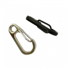 Outdoor Mini EDC Tool, Zinc Alloy Mountaineering Key Buckle (2 PCS)
