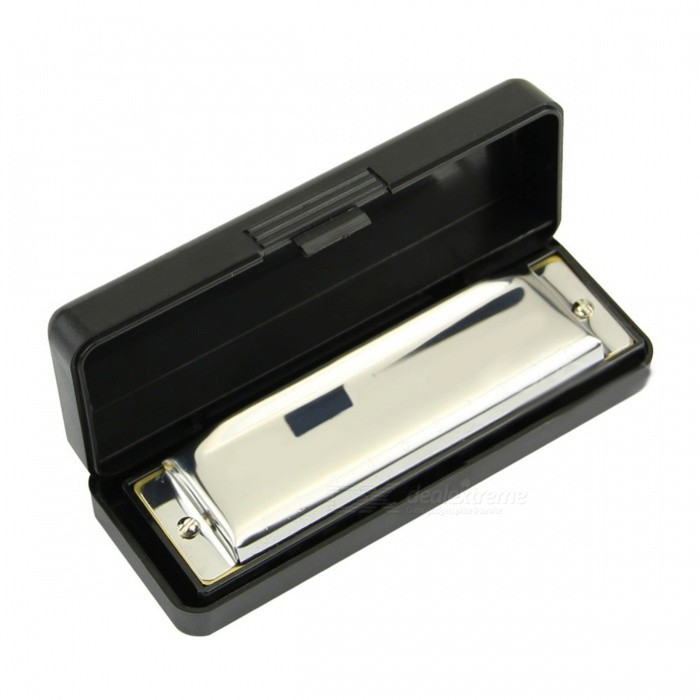 Buy Swan Harmonica with 10 Holes Key of C for Blues Rock Jazz Folk - Silver with Litecoins with Free Shipping on Gipsybee.com