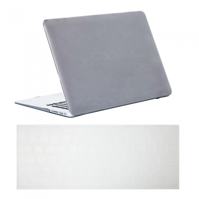 Dayspirit Ultra Slim Crystal Hard Case + Keyboard Cover for MacBook Air 13.3 A1369/A1466 - GrayNetbook&amp;Laptop Cases<br>Form  ColorTranslucent GreyModelN/AQuantity1 DX.PCM.Model.AttributeModel.UnitShade Of ColorGrayMaterialPCCompatible ModelMacBook Air 13.3Compatible BrandAPPLETypeFull Body CasesStyleBusiness,Casual,Fashion,ContemporaryCompatible Size13.3 inchPacking List1 x Hard shell (top + bottom)1 x Keyboard cover<br>