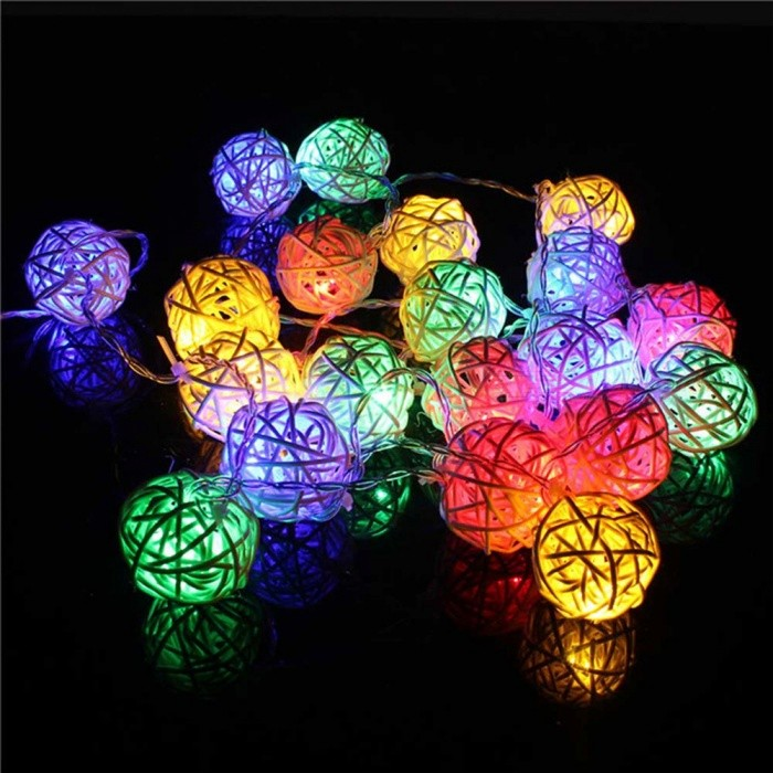 P-TOP 2m 20-LED Battery Powered RGB Light Handmade Rattan Balls String Light - WhiteLED String<br>Form  ColorWhiteColor BINRGBMaterialRattanQuantity1 DX.PCM.Model.AttributeModel.UnitPower2WRated VoltageOthers,3 DX.PCM.Model.AttributeModel.UnitEmitter TypeLEDTotal Emitters20Wavelength-Theoretical Lumens100 DX.PCM.Model.AttributeModel.UnitActual Lumens50 DX.PCM.Model.AttributeModel.UnitPower AdapterBatteryPacking List1 x 2M 20-LED Light (without battery)<br>