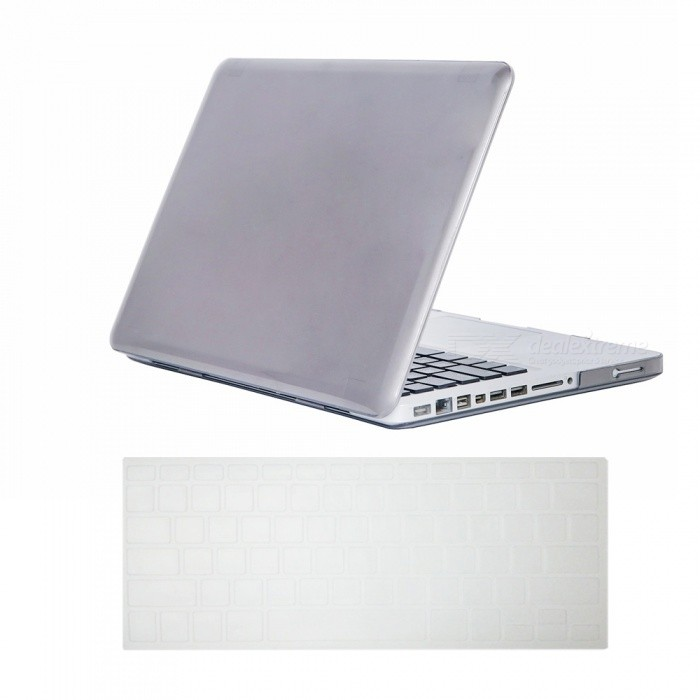 "Dayspirit Ultra Slim Crystal Hard Case + Keyboard Cover for MacBook Pro 13.3"" with CD-ROM (A1278) - Gray"