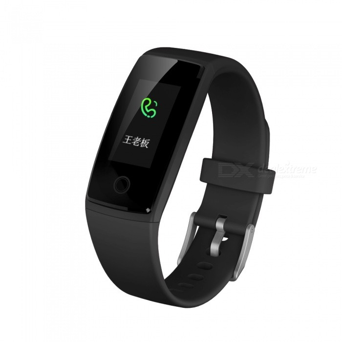 V10 0.96 OLED Waterproof Sports Smart Bracelet with Heart Rate Monitor - BlackSmart Bracelets<br>Form  ColorBlackQuantity1 DX.PCM.Model.AttributeModel.UnitMaterialABSShade Of ColorBlackWater-proofOthers,IPX7Bluetooth VersionBluetooth V4.0Touch Screen TypeYesCompatible OSAndroid 4.4 &amp; ios8.0 and upBattery Capacity150 DX.PCM.Model.AttributeModel.UnitBattery TypeLi-polymer batteryStandby Time5-7 DX.PCM.Model.AttributeModel.UnitPacking List1 x Smart Bracelet1 x User manual<br>