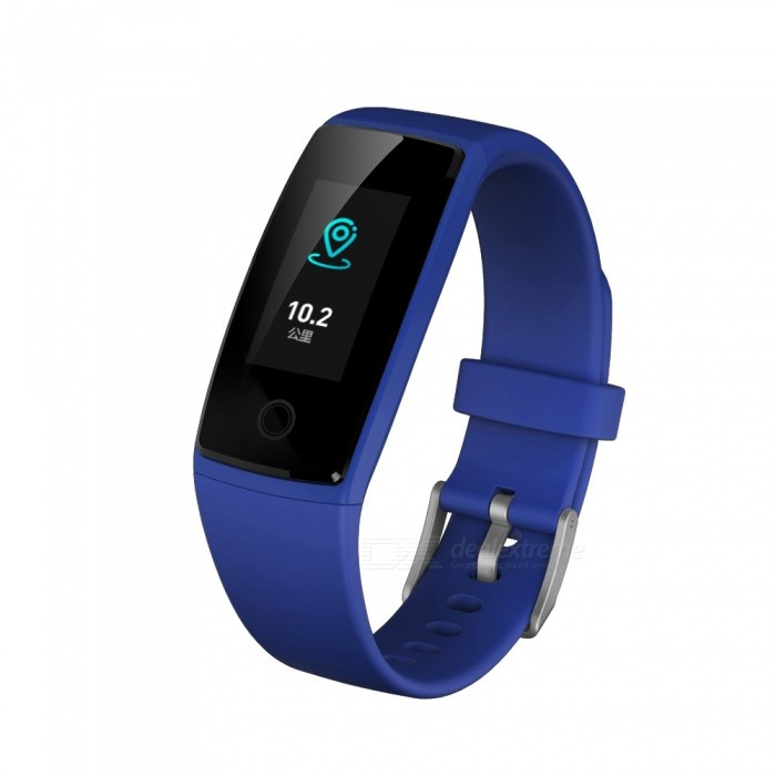 "V10 0.96"" OLED Waterproof Sports Smart Bracelet with Heart Rate Monitor - Blue"