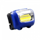 ZHAOYAO Waterproof Multifunctional COB 3-Mode Headlight - Blue (3 x AAA Batteries)