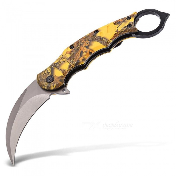CTSmart Outdoor Mini Folding Curved Knife for Camping