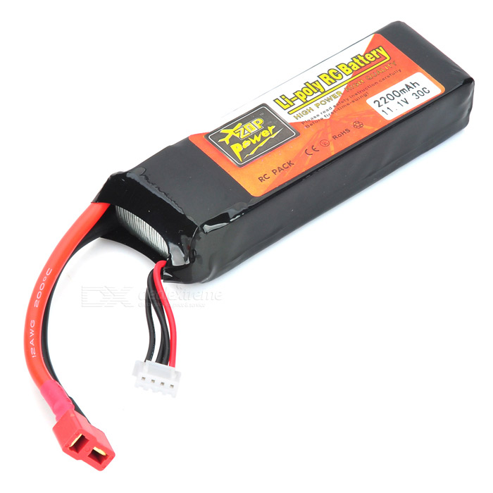 11.1V 2200mAh Replacement Li-Po Battery for 450 RC Helicopter - Black
