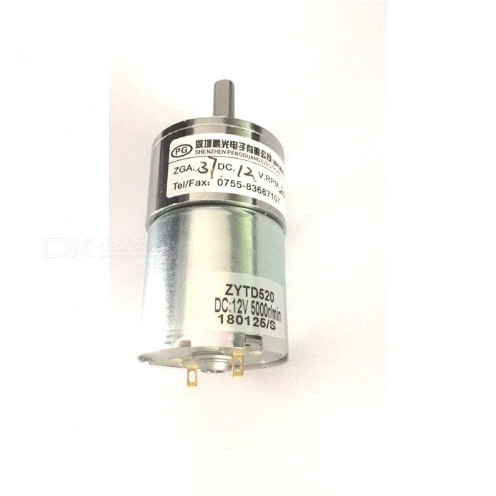 ZHAOYAO-37RG-DC-12V-200RPM-Micro-Gear-Box-Motor-Speed-Reduction-Electric-Gearbox-with-Centric-Output-Shaft
