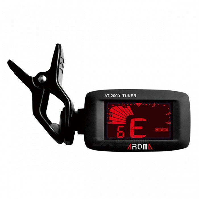 Buy Aroma AT-200D High Quality Clip On Guitar Tuner with Litecoins with Free Shipping on Gipsybee.com