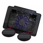 CoolCold K16 Notebook Cooler, Laptop Cooling Fan Pad - Black