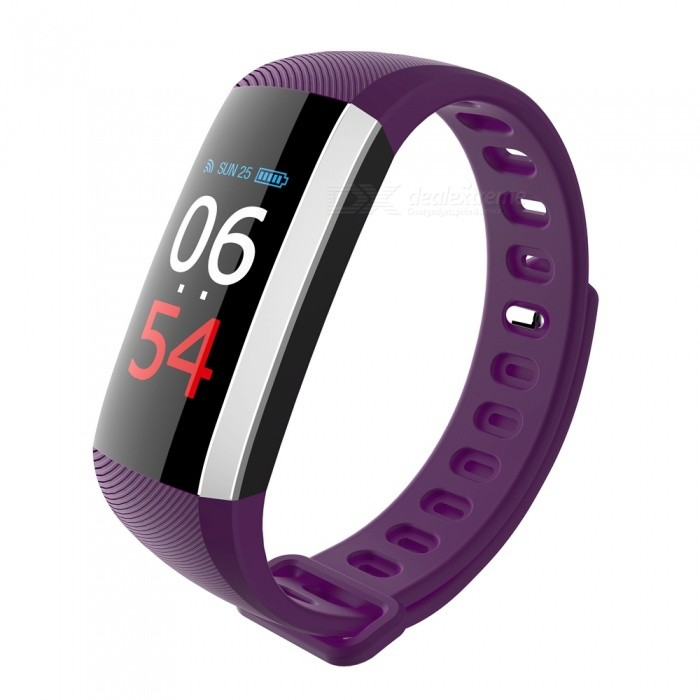 G19 Smart Bracelet Heart Rate Blood Pressure Blood Oxygen Monitoring - Purple + BlackSmart Bracelets<br>Form  ColorPurple + BlackQuantity1 DX.PCM.Model.AttributeModel.UnitMaterialABSShade Of ColorPurpleWater-proofIP67Bluetooth VersionBluetooth V4.0Touch Screen TypeYesCompatible OSAndroid 4.4 and above, iOS 7.1 and aboveBattery Capacity90 DX.PCM.Model.AttributeModel.UnitBattery TypeLi-polymer batteryStandby Time5-7 DX.PCM.Model.AttributeModel.UnitPacking List1 x Fitness Tracker 1 x User Manual<br>
