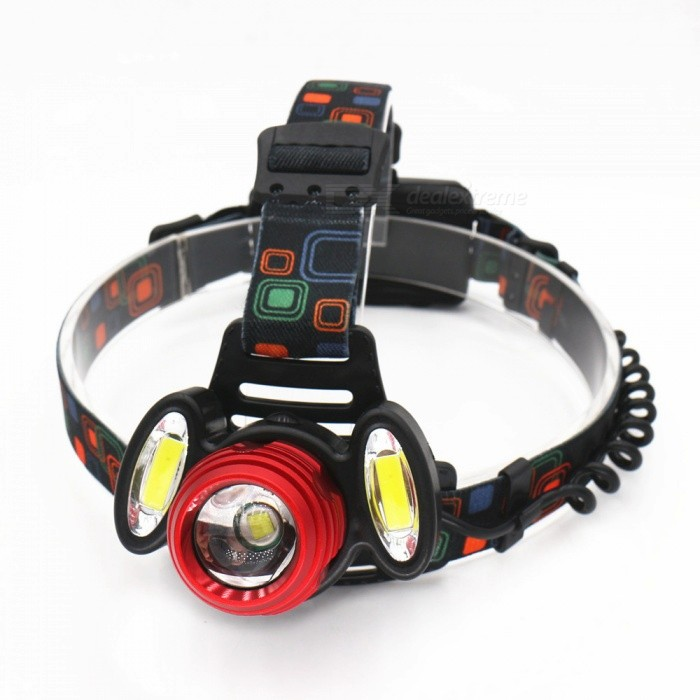 ZHAOYAO Outdoor USB Rechargeable 3-LED 4-Mode T6 Riding Light Flashlight Headlamp