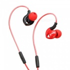NUBWO NY51 Sports Waterproof Headset Bass Headphones In-ear Earphone with MIC for IPHONE, Samsung, Xiaomi, Huawei, Sony - Red
