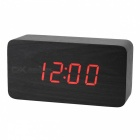 BSTUO-Wooden-Desktop-LED-Alarm-Clock-with-Time-Temperature-Data-Display-Black