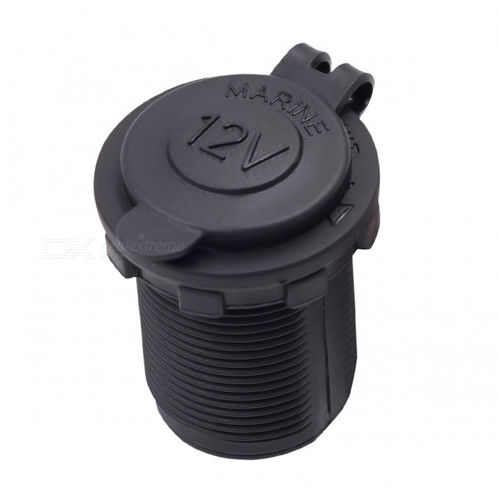 Buy DC 12V 120W Waterproof Heat Resisting Plastic Motorcycle Car Power Socket, Tractor Cigarette Lighter Plug Outlet with Litecoins with Free Shipping on Gipsybee.com