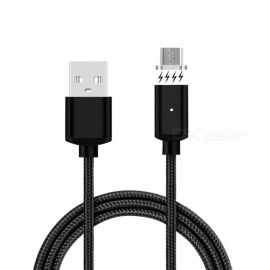 Cwxuan Micro USB Detachable Magnetic Braided Woven Charging Data Cable for Samsung / Huawei / Xiaomi -  (1m)