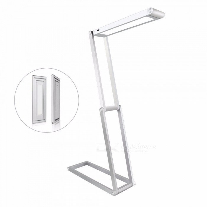 360-Degree-Rotation-4-Section-Folding-2-Level-USB-Charging-LED-Table-Lamp-Silver-Golden