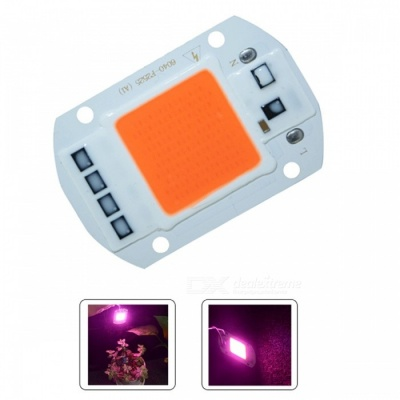 20W 110V LED Grow Light Lamp with Smart Chip, Full Spectrum Input for Indoor Plant Seedling Grow and Flower