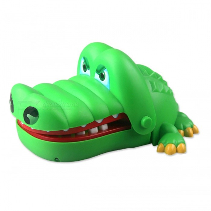 Cool Cartoon Crocodile Dentist Joke Gag Trick Toy Funny Game Family Interactive Toy - Green