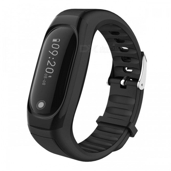 ID118Hr Smart Band Bracelet with Fitness Tracker, Heart Rate Monitor - Black