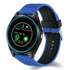 V9 Bluetooth Smart Watch Phone, Support 2G Micro SIM Card, With Camera, Pedometer, Heart Rate Monitoring - Blue